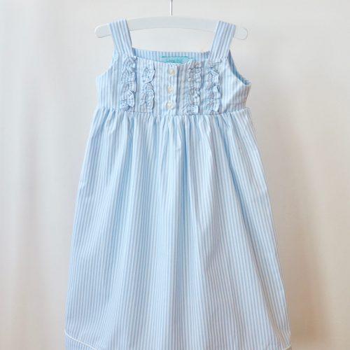 Chemise de nuit Léa – Bleu